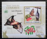 Poštovní známka Komory 2009 Netopýři DELUXE neperf. Mi# 2457 B Block