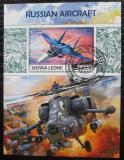 Poštovní známka Sierra Leone 2017 Ruské letectvo Mi# Block 1270 Kat 11€