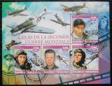 Poštovní známky Madagaskar 2016 Piloti a válečná letadla Mi# N/N