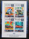 Poštovní známky Šalamounovy ostrovy 2014 Automobily Renault Mi# 2542-45 Kat 9.50€