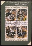 Poštovní známky Svatý Tomáš 2014 Automobily Renault Mi# 5509-12 Kat 10€