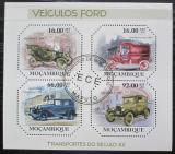 Poštovní známky Mosambik 2011 Automobily Ford Mi# 4647-50 Kat 11€