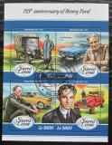 Poštovní známky Sierra Leone 2018 Automobily Ford Mi# 9295-98 Kat 11€