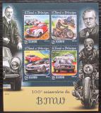 Poštovní známky Svatý Tomáš 2016 Automobily a motocykly BMW Mi# 6531-34 Kat 12€