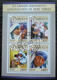 Poštovní známky Džibutsko 2016 Matka Tereza Mi# 1383-86 Kat 11€