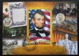 Poštovní známka Pobřeží Slonoviny 2013 Prezident Abraham Lincoln Mi# N/N