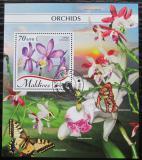 Poštovní známka Maledivy 2018 Orchideje Mi# Block 1236 Kat 9€