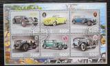 Poštovní známky Gabon 2017 Klasické automobily Mi# N/N