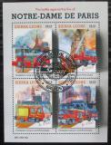 Poštovní známky Sierra Leone 2019 Požár katedrály Notre-Dame Mi# N/N