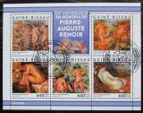 Poštovní známky Guinea-Bissau 2019 Umění, Pierre-Auguste Renoir Mi# N/N