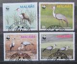 Poštovní známky Malawi 1987 Jeřáb, WWF 047 Mi# 477-80 Kat 7.50€