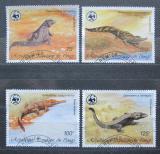 Poštovní známky Kongo 1987 Krokodýli, WWF 045 Mi# 1063-66