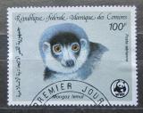 Poštovní známka Komory 1987 Lemur mongoz, WWF 047 Mi# 793
