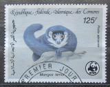 Poštovní známka Komory 1987 Lemur mongoz, WWF 047 Mi# 794
