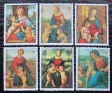 Poštovní známky Paraguay 1982 Umění, Raffael, vánoce Mi# 3553-58
