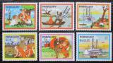 Poštovní známky Paraguay 1985 Román Tom Sawyer Mi# 3887-92