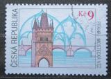 Poštovní známka Česká republika 2000 Mostecká věž v Praze Mi# 264