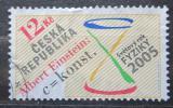 Poštovní známka Česká republika 2005 Světový rok fyziky Mi# 436