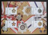 Poštovní známky Česká republika 2018 Řády a medaile Mi# Block 74