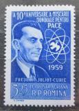 Poštovní známka Rumunsko 1959 Frédéric Joliot-Curie, fyzik Mi# 1770 Kat 5€
