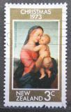 Poštovní známka Nový Zéland 1973 Vánoce, umění, Raffael Mi# 613