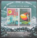Poštovní známky Aden Qu´aiti 1967 Přistání na Měsíci Mi# Block 9 Kat 10€