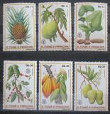 Poštovní známky Svatý Tomáš 1981 Ovoce Mi# 744-49 Kat 14€