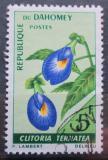 Poštovní známka Dahomey 1967 Clitoria ternatea Mi# 300