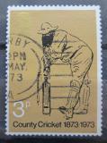 Poštovní známka Velká Británie 1973 Kriket Mi# 621