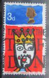 Poštovní známka Velká Británie 1966 Vánoce, dětská kresba Mi# 442
