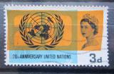 Poštovní známka Velká Británie 1965 OSN, 20. výročí Mi# 404