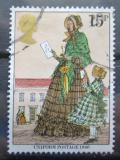 Poštovní známka Velká Británie 1979 Dáma s dopisem, Rowland Hill Mi# 807