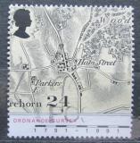 Poštovní známka Velká Británie 1991 Stará mapa Mi# 1363