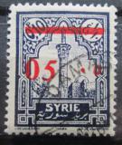 Poštovní známka Sýrie 1928 Minaret mešity přetisk Mi# 309