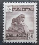 Poštovní známka Irák 1963 Babylonský lev Mi# 361