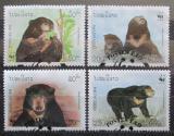 Poštovní známky Laos 1994 Malajský medvěd, WWF Mi# 1410-13