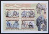 Poštovní známky Guinea 2001 Gorily Mi# Mi# 3390-93 Bogen Kat 18€