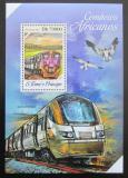 Poštovní známka Svatý Tomáš 2013 Jihoafrické lokomotivy Mi# Mi# Block 934 Kat 8€