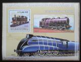 Poštovní známka Mosambik 2009 Parní lokomotivy Mi# Mi# Block 248 Kat 10€