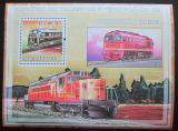 Poštovní známka Mosambik 2009 Dieselové lokomotivy Mi# Mi# Block 249 Kat 10€