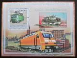 Poštovní známka Mosambik 2009 Elektrické lokomotivy Mi# Mi# Block 250 Kat 10€