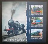 Poštovní známky Guinea 2014 Parní lokomotivy Mi# Mi# 10279-81 Kat 18€