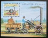 Poštovní známka Benin 1999 Historická  parní lokomotiva Mi# Block 50
