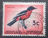 Poštovní známka JAR 1961 Ťuhýkovec pruhokřídlý Mi# 292