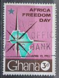 Poštovní známka Ghana 1962 Mapa Afriky Mi# 118
