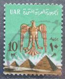Poštovní známka Egypt 1966 Orel nad pyramidami Mi# 722 b