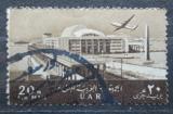 Poštovní známka Egypt 1963 Letadlo nad Alexandrií Mi# 692