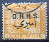 Poštovní známka Egypt 1907 Sfinga a pyramida, služební Mi# 4