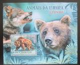 Poštovní známka Mosambik 2012 Vyhynulí savci Evropy Mi# Block 646 Kat 10€