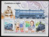 Poštovní známky Guinea-Bissau 2015 Parní lokomotivy Mi# 7725-28 Kat 14€